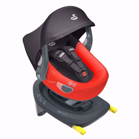 Picture of Albert I-size Car Seat  Red Black + Isofix Base and City Mini2 Adaptors